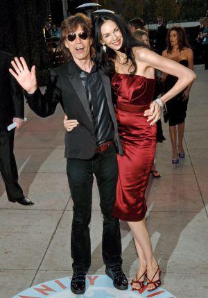 Mick Jagger e L'Wren Scott.