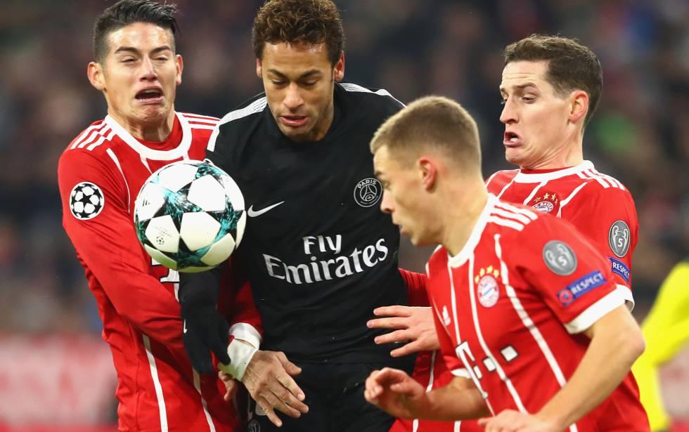 Neymar, na partida contra o Bayern.