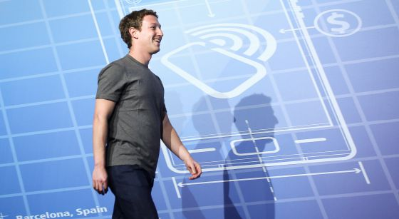 Mark Zuckerberg, no MWC.