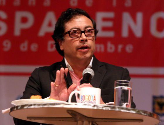 O prefeito de Bogotá, Gustavo Petro.
