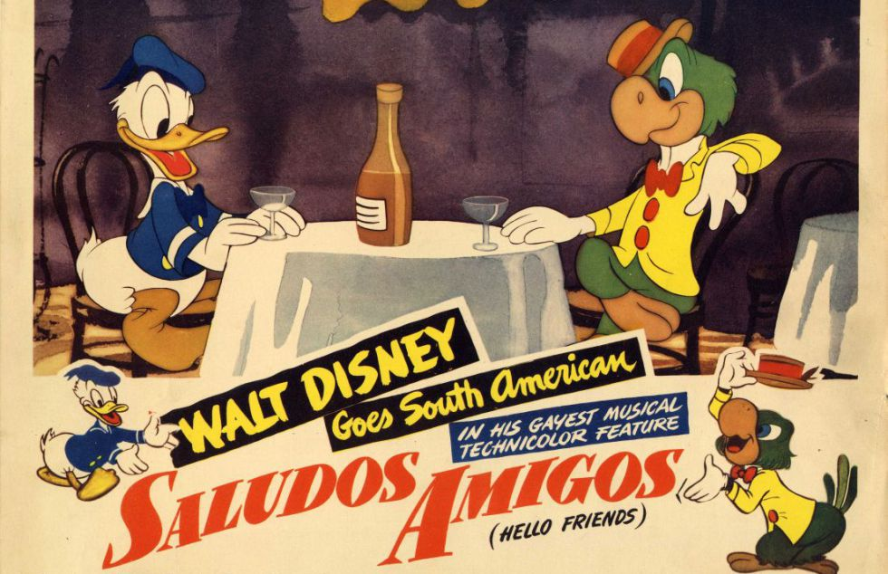 Uma imagem de Donald e Zé Carioca, em 'Alô, Amigos' (1941).