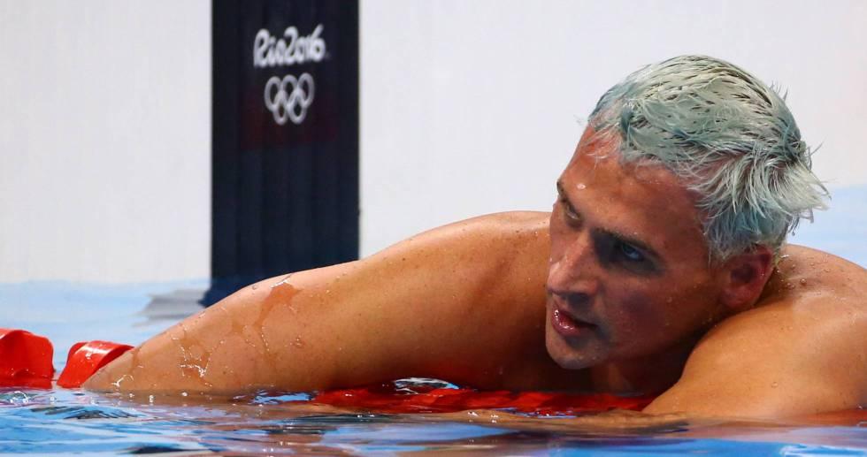 Ryan Lochte no Rio de Janeiro.