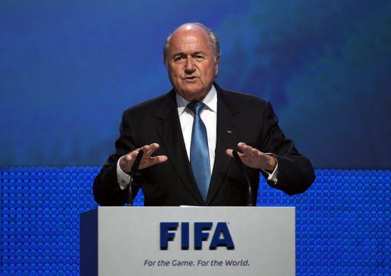 Joseph Blatter, durante o 61º congresso da FIFA