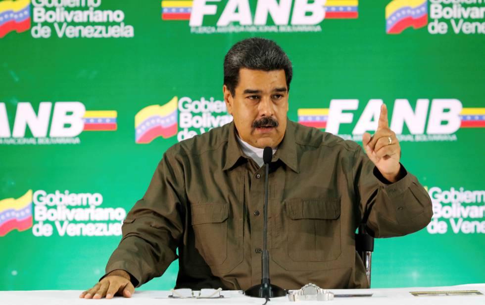 Maduro em um ato militar neste sábado em Caracas.