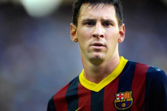Messi, durante uma partida do Barcelona.