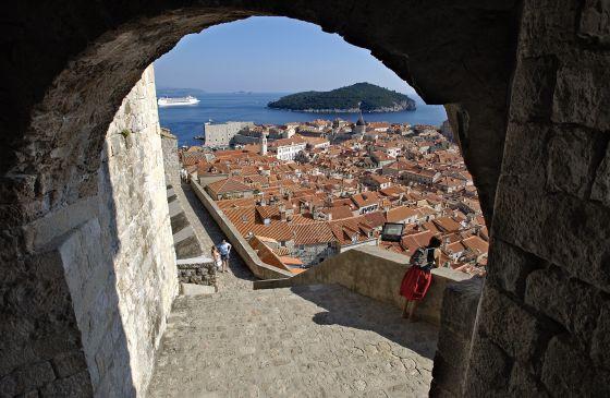 A Cidade Velha de Dubrovnik, na Croácia, cenário de 'Game of Thrones'.