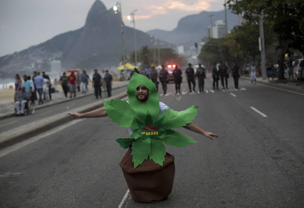 Marcha da maconha no Rio.