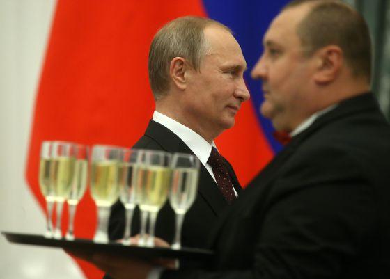Vladimir Putin, durante uma recepção no Kremlin.