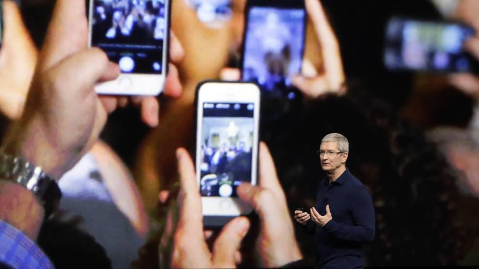 Tim Cook, presidente da Apple, ano passado.