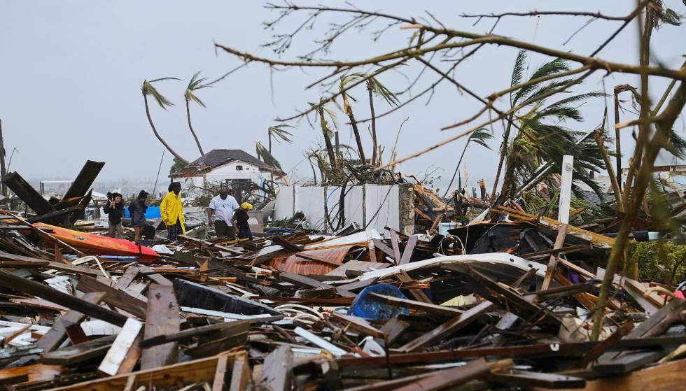 Destruição provocada pelo furacão Dorian nas ilhas Ábaco (Bahamas), na segunda-feira passada.
