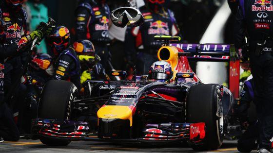 Ricciardo, durante um pit stop em Melbourne.