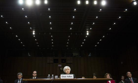 A presidenta do Federal Reserve, Janet Yellen, na quinta-feira passada, no Congresso dos EUA.