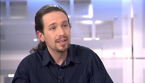 Pablo Iglesias, durante sua entrevista no canal de TV Telecinco.