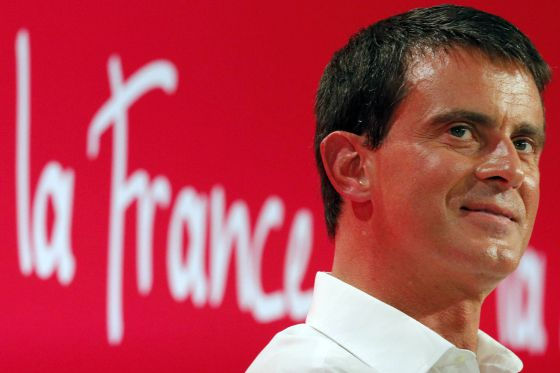 Manuel Valls, primeiro-ministro francês, em La Rochelle.