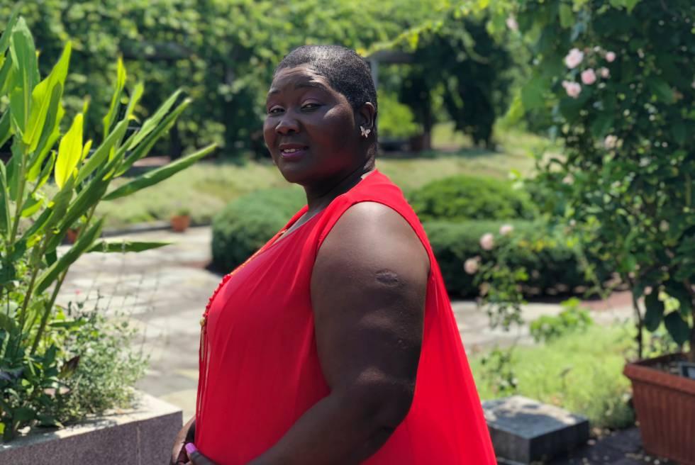 A malauiana Fainess Lipenga em Maryland, Estados Unidos.