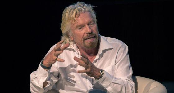 O presidente do grupo empresarial Virgin, Richard Branson.