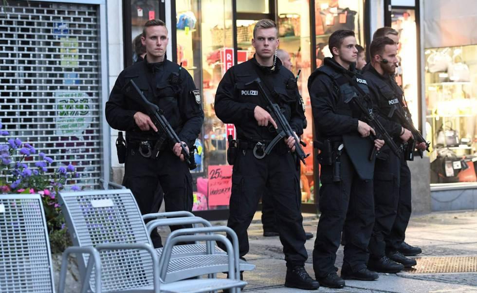 Operação policial nas ruas de Munique.