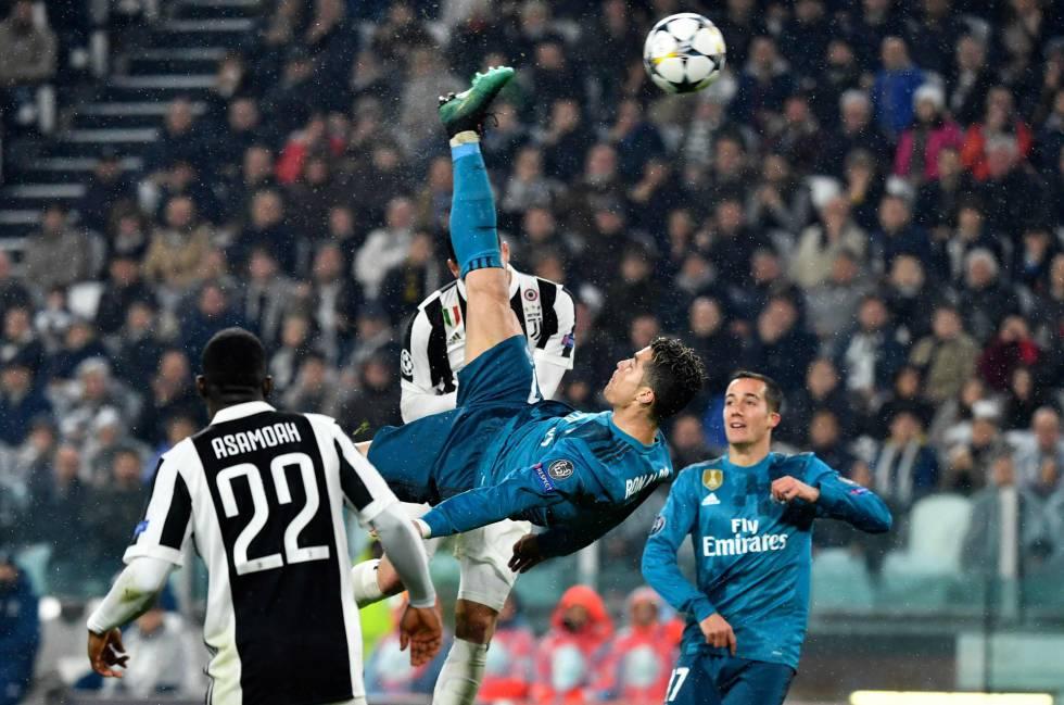 O gol de bicicleta de Cristiano Ronaldo.