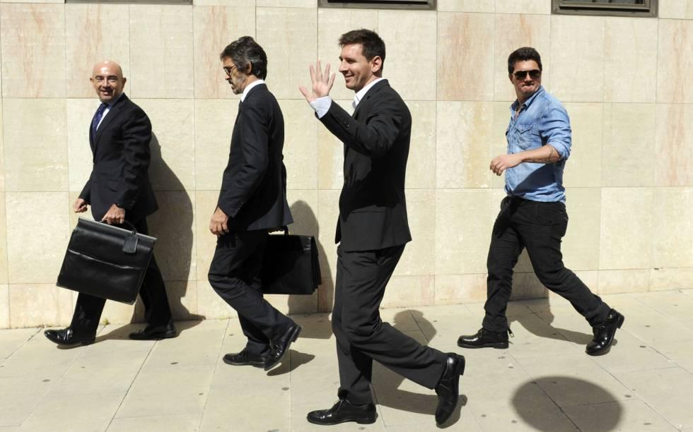 Leo Messi no tribunal de Gavà em 2013.