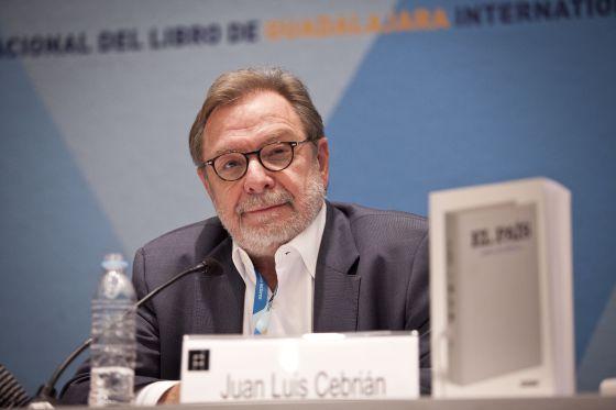 Juan Luis Cebrián, durante sua exposição na FIL.