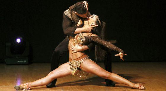 Anita e Adrián na competição 'World Salsa Masters', na última sexta-feira.
