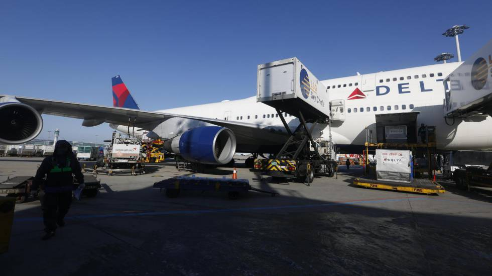 O último Boeing 747 da Delta Air Lines no aeroporto de Incheon, na Coreia do Sul