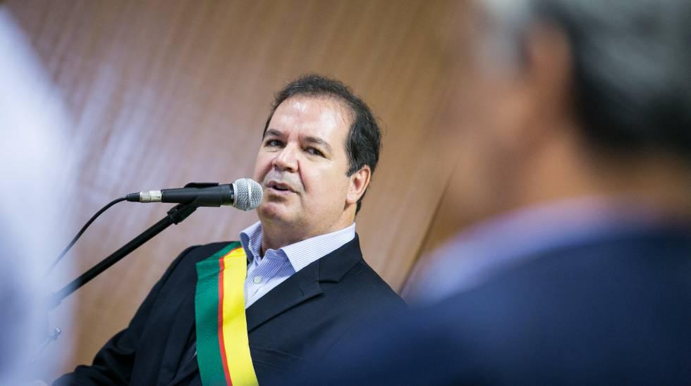 O governador do Acre, Tião Viana, em evento em 2015.