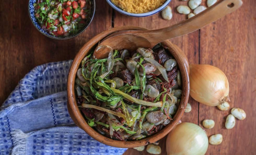 Favada, um dos pratos servidos no Ca-Já.