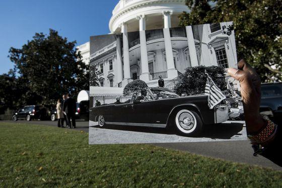 Foto histórica, de 4 de junho de 1963, na Casa Branca