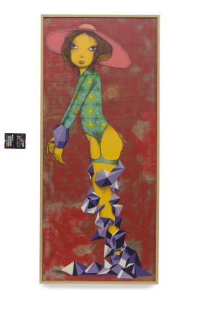Uma das obras da dupla Osgemeos expostas na mostra.