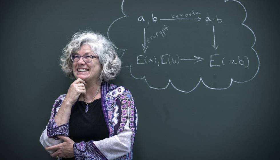 Kristin Lauter em Valência, com sua fórmula de criptografia homomórfica.