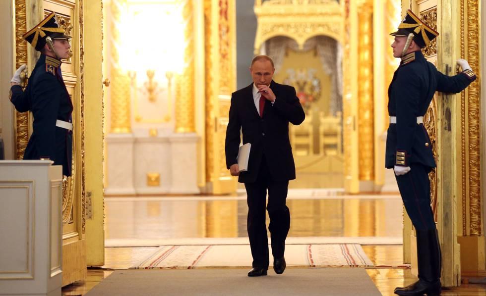 O presidente Putin no Kremlin em 2016.