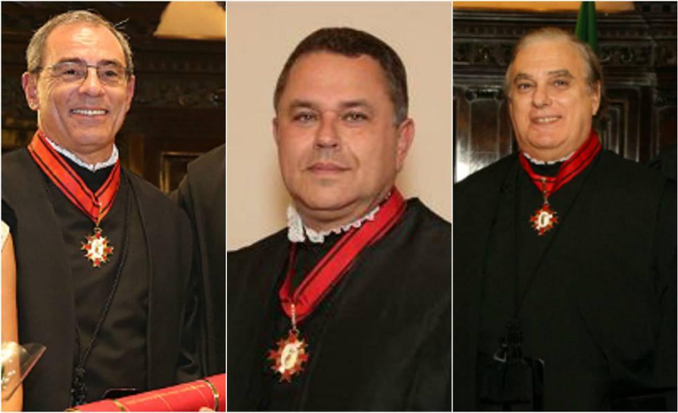 Os desembargadores Milton Carvalho, Luiz Fernando Salles Rossi e Mauro Conti Machado.