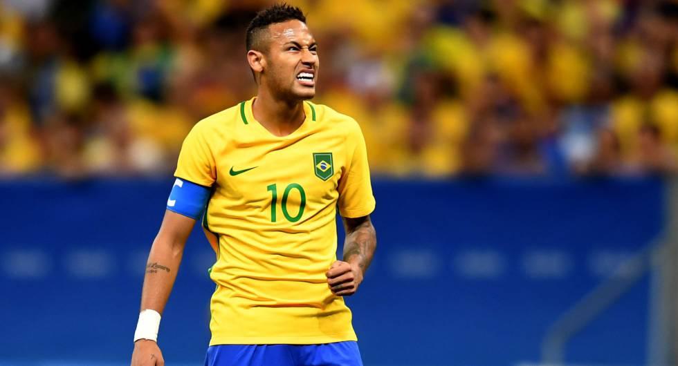 Brasil x Iraque: Neymar não apareceu mais uma vez.