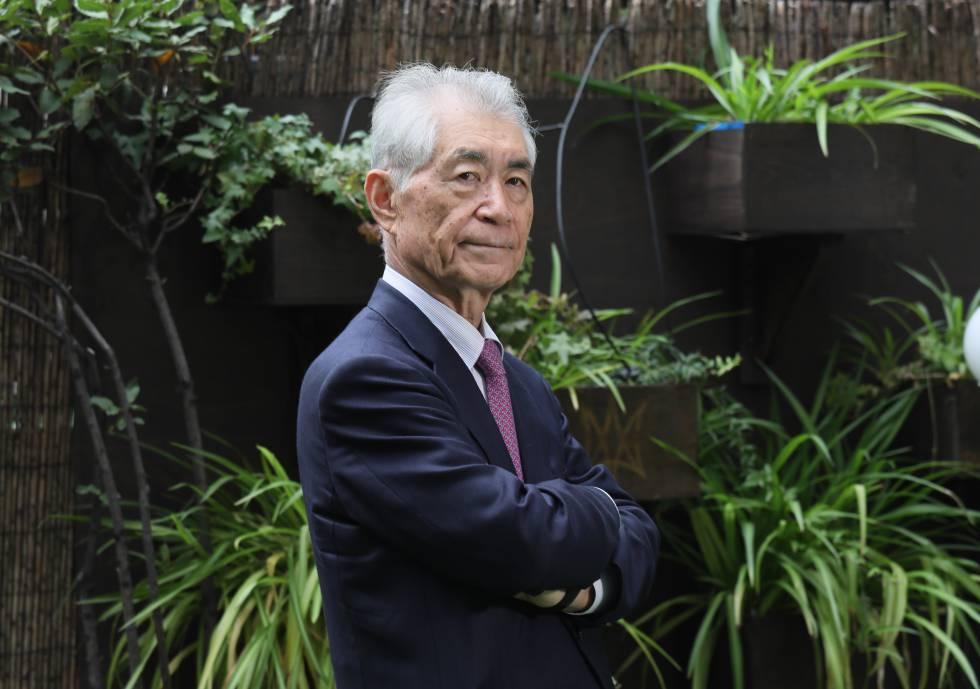 O cientista japonês Tasuku Honjo, pai da imunoterapia, em Madri.