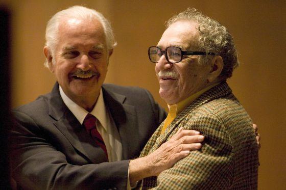 Carlos Fuentes e García Márquez em 2008.
