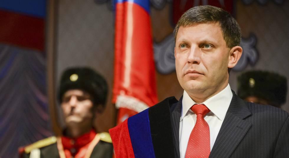 O líder separatista de Donetsk, Alexander Zakharchenko.