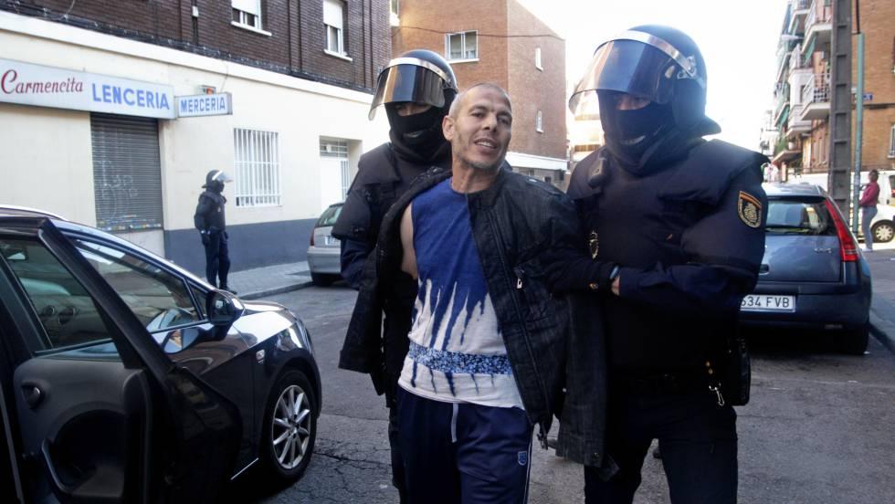 Lahcen Ikasrrien, no momento da sua prisão em 2014, em Madri.