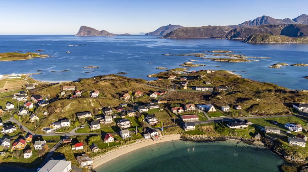 Foto panorâmica da ilha de Sommar.