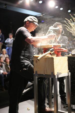 Cutting-edge cuisine: Stefan Weisner gets creative.