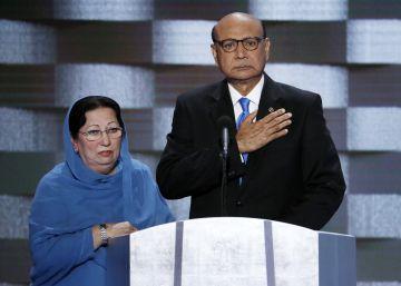 O pai do militar, imigrante de nacionalidade norte-americana, criticou o candidato republicano na convenção democrata