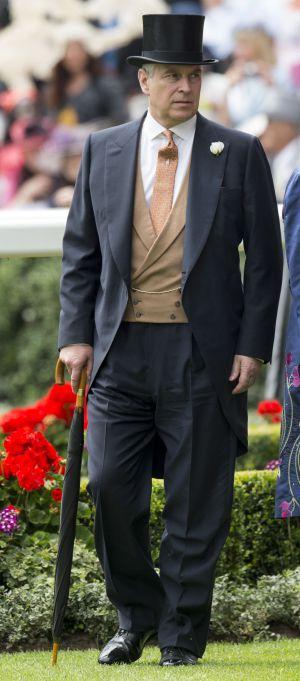 O príncipe Andrew, da Inglaterra, nas corridas de Ascot.