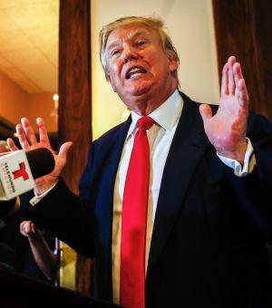 Donald Trump nesta segunda-feira em Chicago.