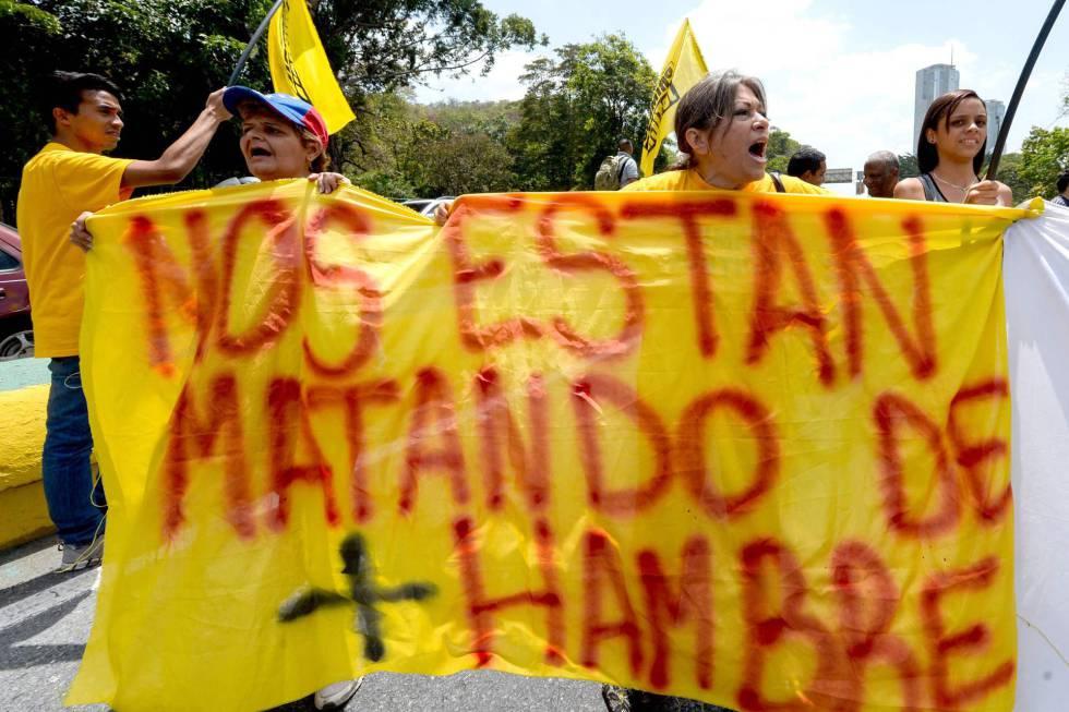 Protesto em Caracas contra o Governo de Maduro.
