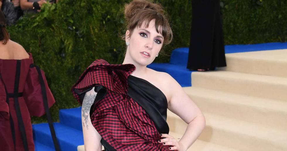 Lena Dunham, na festa do Met.