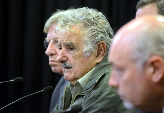 José Mujica em uma coletiva de imprensa