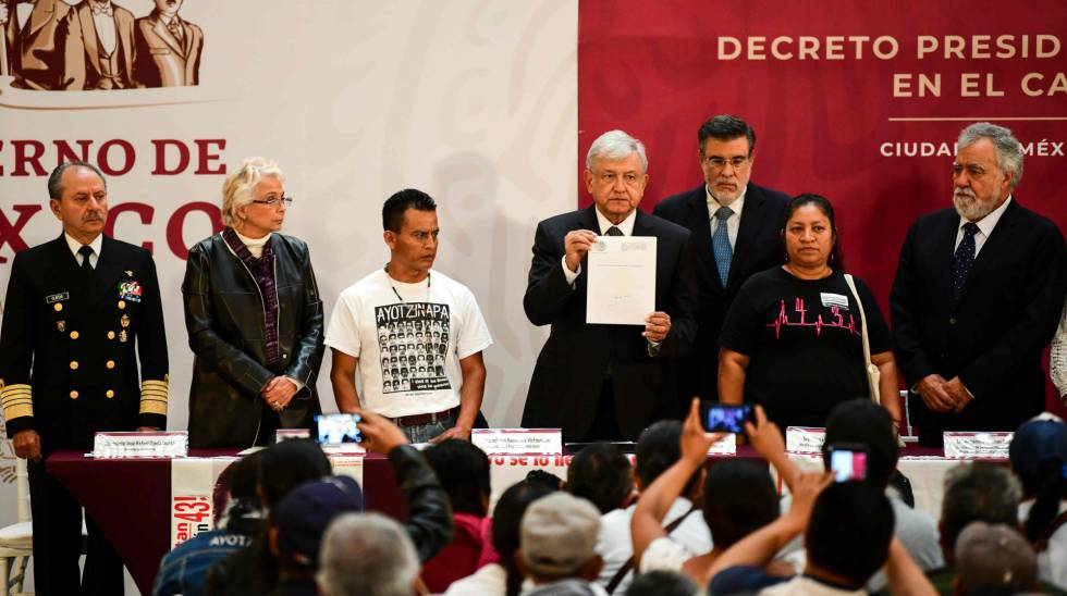 López Obrador apresenta o decreto da comissão da verdade