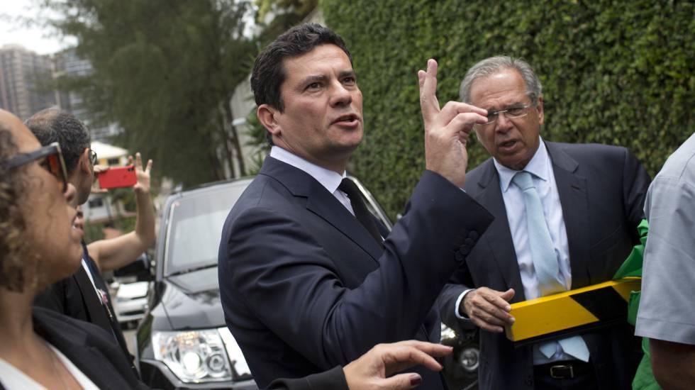 Sérgio Moro e o futuro ministro da Economia, Paulo Guedes