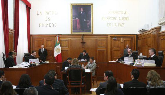 Sala da Suprema Corte mexicana.