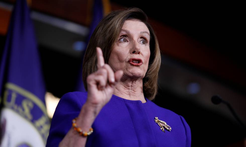 A presidente da Câmara dos EUA, a democrata Nancy Pelosi.